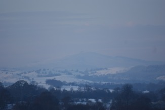 Distant views of Moel Famau from Bwlchgwyn